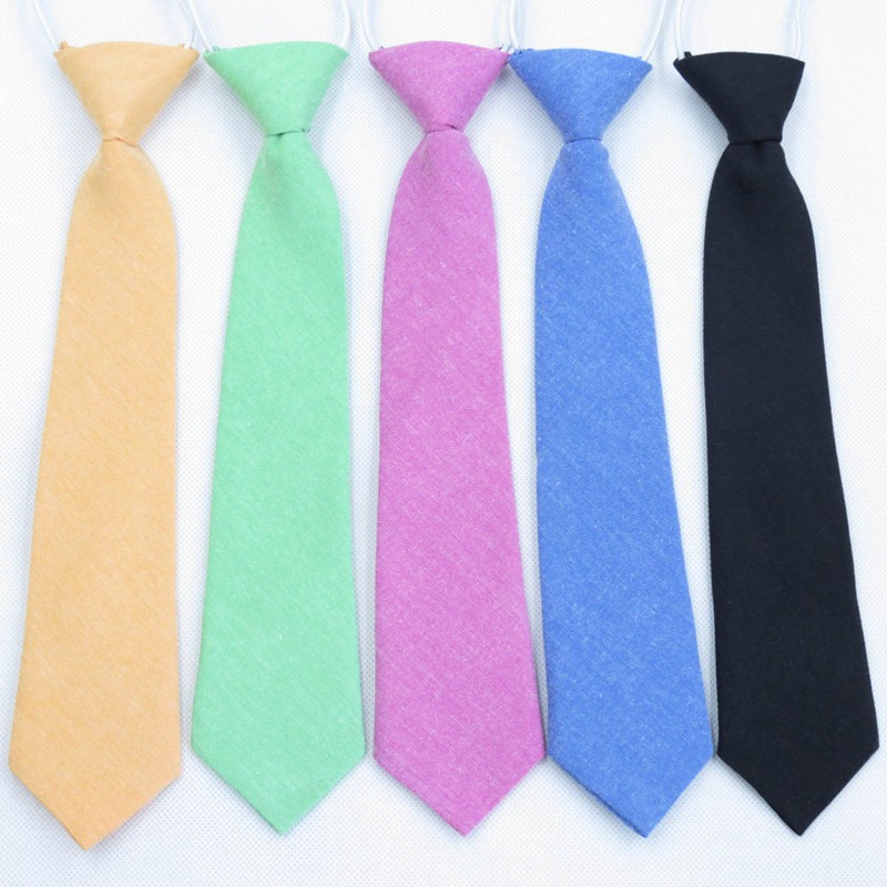 Children Pure Color Neck Tie For Boys Girls Students Kid Rope Tie Stage Performance Photograph Graduation Ceremony Necktie