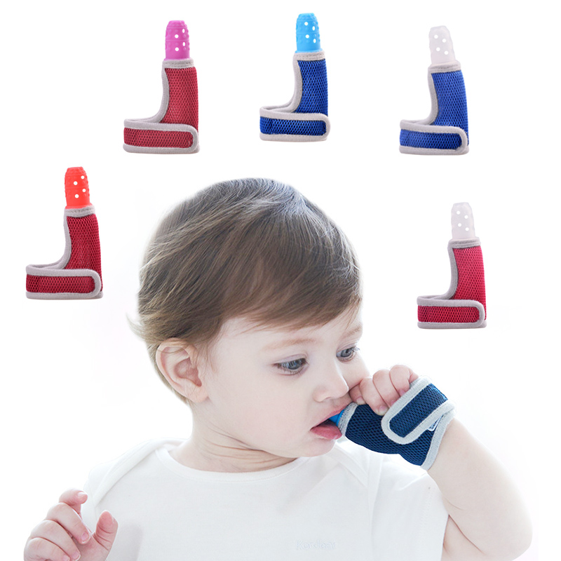 Baby Silicone Teether Molars Food Grade Finger Sets Baby Breathable Thumb Set Teether Newborn Anti-bite Hand Sucking Thumb Toys