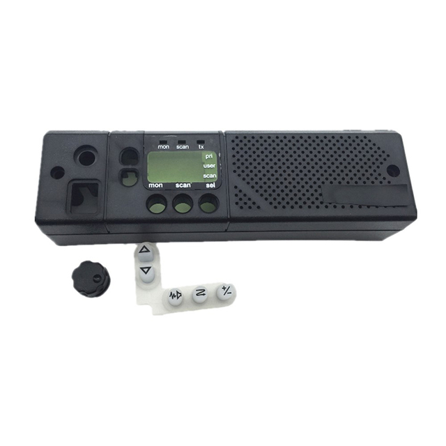 5pc Black Front Cover Case Shell +Digital Keypad Button Rubber+Knob For Motorola GM300 Car Radio Accessories