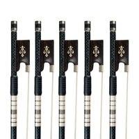 5PCS 4/4 Carbon Fiber Violin Bow Standard Violin Bow W/ Ebony Frog Well Balance