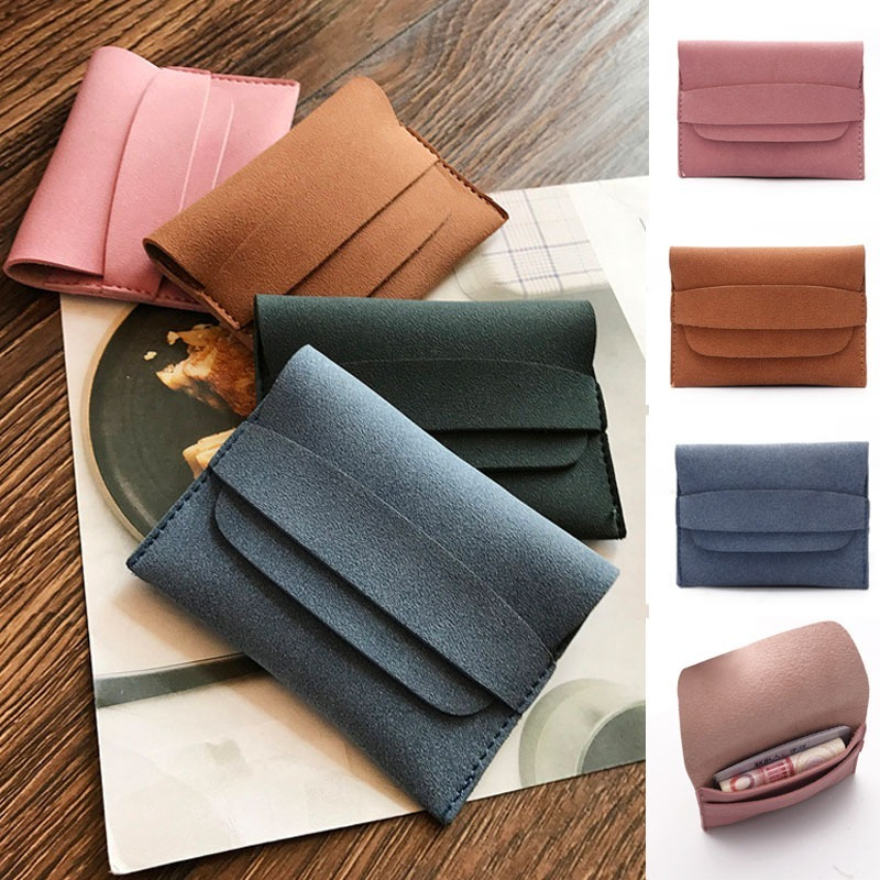 Clearance Sale Leather Coin Purse Women Small Wallet Change Purses Mini Zipper Money Bags Children's Pocket Wallets Key Holder