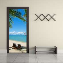 New Creative Home Decoration Modern Simple 3D Walls Stick to the Beach Bedroom Studio