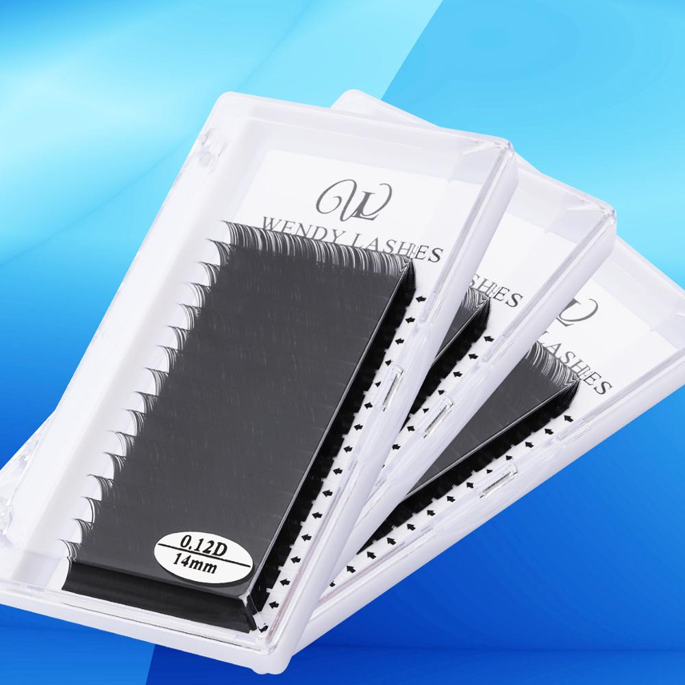 16 Rows Extension Eyelashes False Eyelash High Quality Thickness 0.07 To 0.15 Faux Mink Eyelashes Individual Silk Lashes