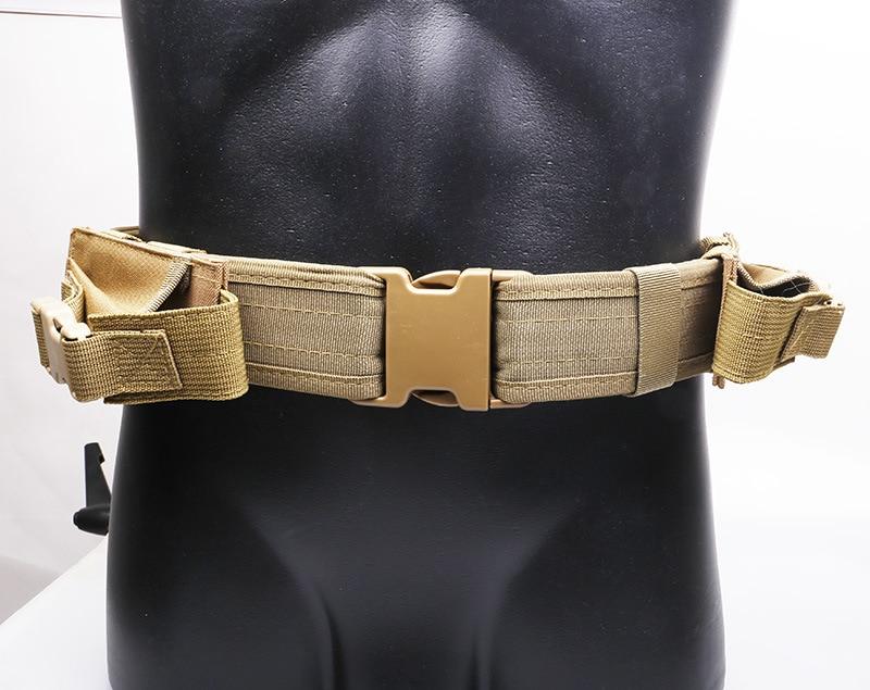Outdoor Multifunction Hunting Adjustable Durable Waist Belt Military Equipment Combat Tactical Training Waist Band Belt|  - title=