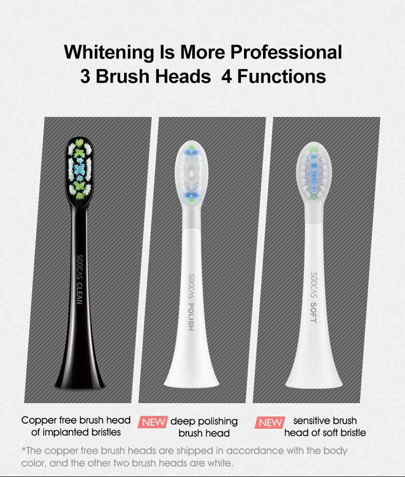 Xiaomi Mijia SOOCAS X3 แปรงสีฟันไฟฟ้า sonic แปรงสีฟัน USB ชาร์จอัตโนมัติ Ultra sonic ฟันแปรงสำหรับทำความสะอาดฟัน