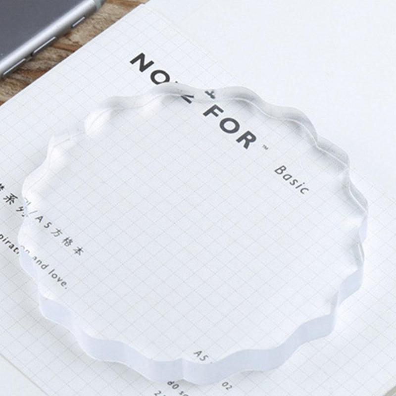 High Transparency Acrylic Block For Diy Transparent Seal Stamp Accounting Supplies Diy Scrapbooking Clear Photo Album Decorative