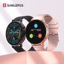 SANLEPUS ECG + PPG Смарт-часы Bluetooth вызовов 2021, новинка, мужские и женские, водонепроницаемые Смарт-часы монитор сердечного ритма для Samsung Android iOS