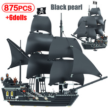 Black Pearl Nave Navi Pirata 4184 4195 Pirati Modello del Caribbeaned Building Blocks Mattoni Regali Di Compleanno Giocattoli Del Capretto