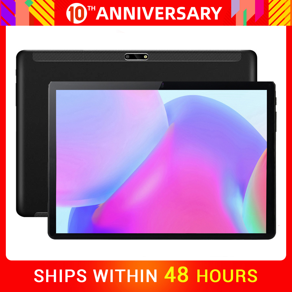 2020 New 2.5D Tempered Glass 3000mAh Power 10 Inch Quad Core 3G Wifi Tablets 2GB RAM 32GB ROM Android 9.0 Tablet 10.1+Gifts