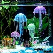 Silicone Artificial Swim Glowing Effect Jellyfish Aquarium Decoration Fish Tank Underwater Luminous Ornament Aquatic Landscape aquarium decoration silicone simulation artificial fish tank fake coral plant underwater aquatic sea ornament accessory d35