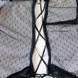 Женский сексуальный перспективный Глубокий V сетчатый прозрачный комбинезон Эротическое белье экзотическое ночное белье комплект бикини ... 5