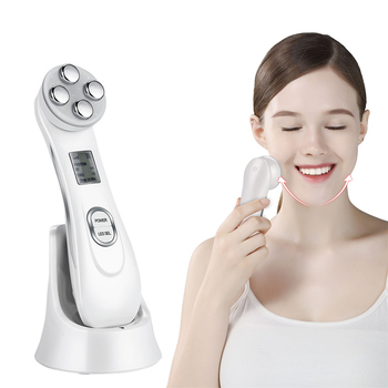 Ultrasonic Face Cleaning Skin Scrubber Facial Cleansing Peeling Machine Pore Cleaner + RF EMS LED Anti Aging Facial Massager 35 2