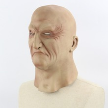 1PCS Realistic Latex Old Man Mask Male Disguise Halloween Fancy Dress Head Rubber Adult Party Masks Masquerade Cosplay Props