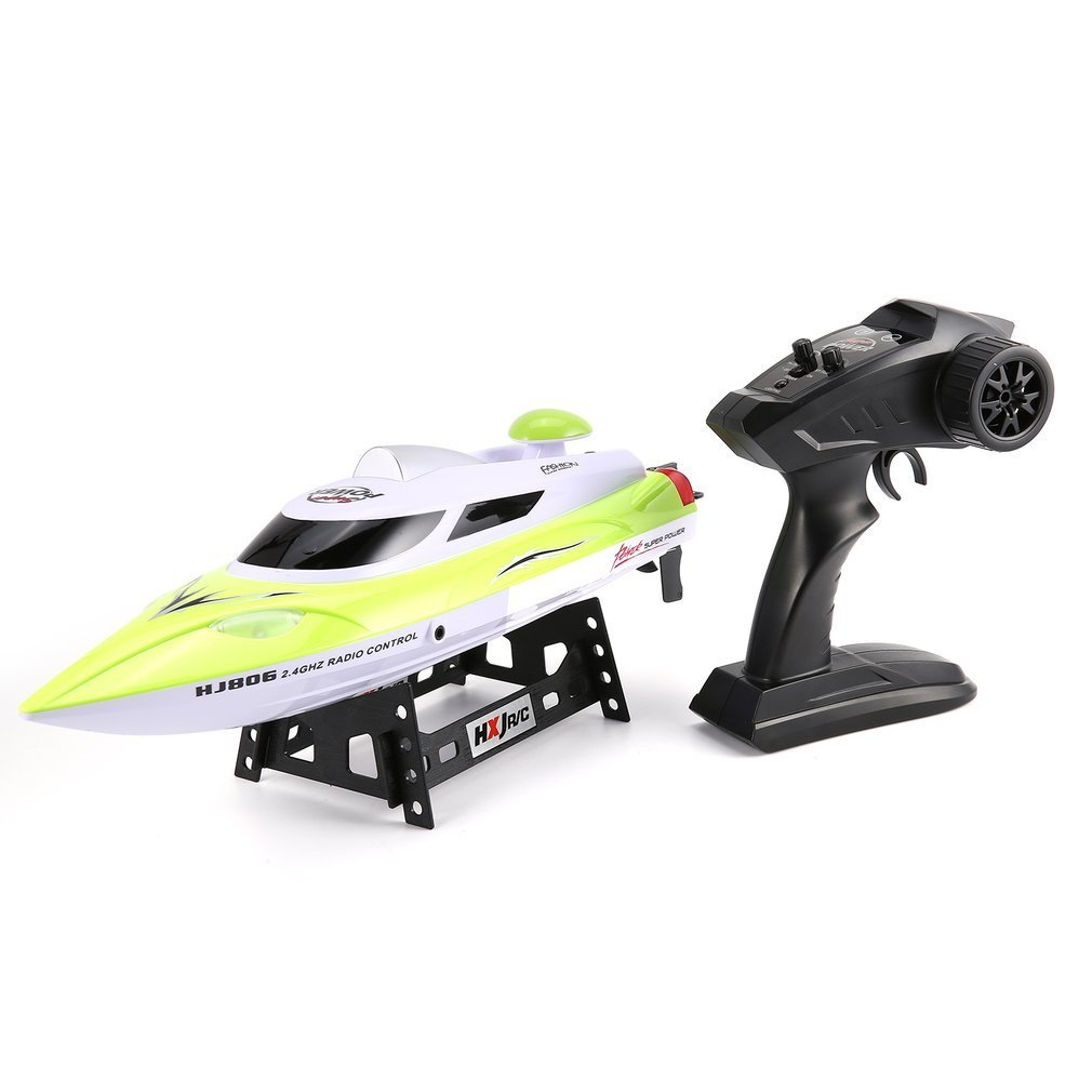HONGXUNJIE HJ806 47cm 2.4G RC 30km/h High Speed Racing Boat Water Cooling System Flipped Omni-directional Voltage Prompt