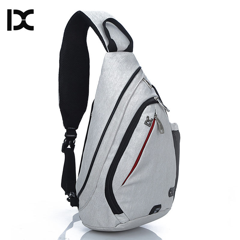 Spor ve Eğlence'ten Tırmanma Çantaları'de IX marka büyük kapasiteli göğüs çanta paketi naylon fermuar kadın postacı çantası erkek okul çantası Modern omuzdan askili çanta sırt çantası XA260WA title=