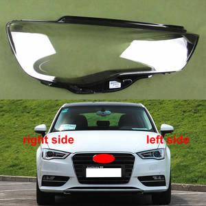 Image 1 - Copertura del faro Proiettore Borsette Headhights Paralume In Vetro Del Faro Lente Per Audi A3 2013 2014 2015 2016