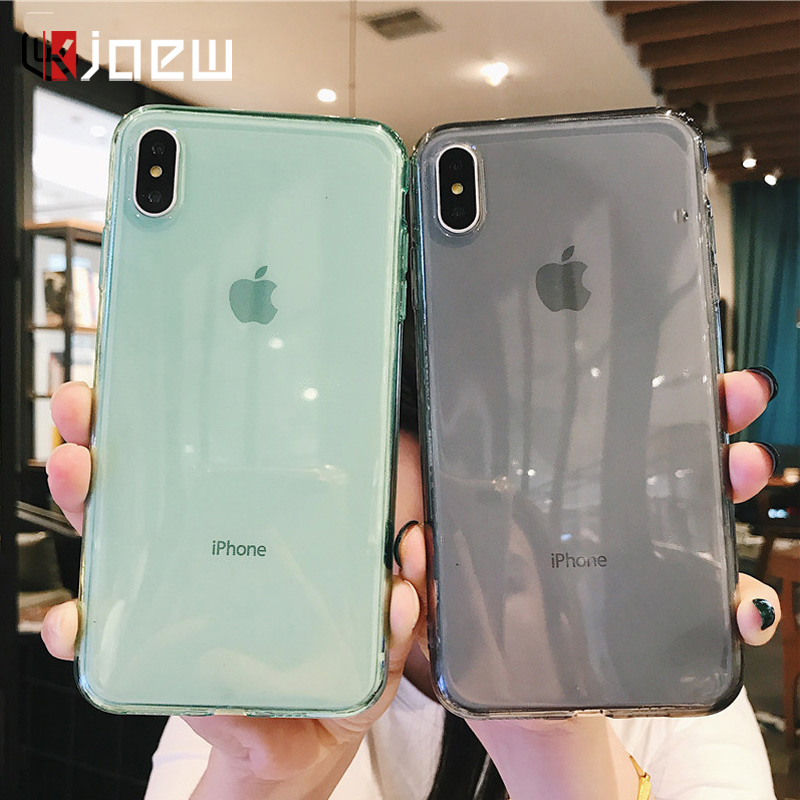 KJOEW Transparent Phone Case For iPhone 6 6s 7 8 Plus 11 Pro XS Max XR X Soft TPU Silicone Clear Case Soild Color Protect Cover