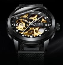 FNGEEN 인기 브랜드 럭셔리 스포츠 기계식 시계 럭셔리 골든 시계 남성 시계 Montre Homme 시계 남성 자동 해골 시계