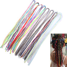 Hair Rolling Rope Twister Hair Accessories For Girls Beauty Hair Tinsel 5pcs/lot Hair Spiral Braiders Colorful Beads(China)