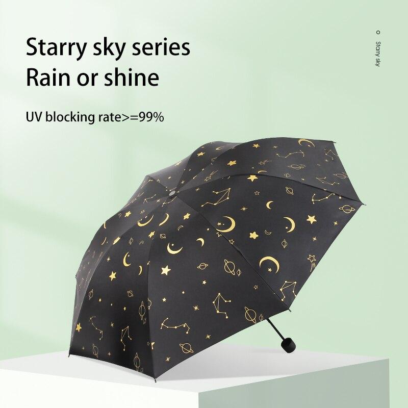 Модные автоматические зонтики с небом и звездами, зонтик заднего вида, Зонтик Складной Дождливый женский зонтик, зонтик от солнца, женские з...
