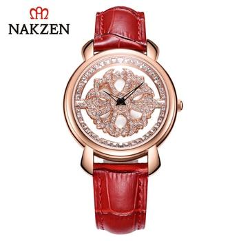 NAKZEN Women's Watches Quartz Watches Sports Watches Brand Luxury Watch with Rhinestones Christmas Woman Watch Waterproof Female