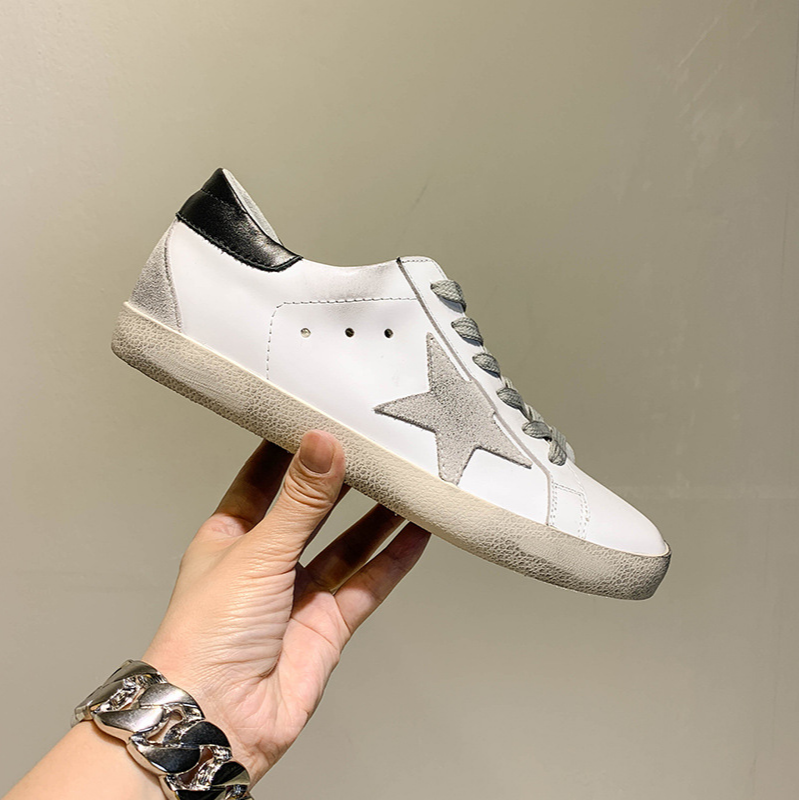 Golden G Women's 2020 Spring Genuine Leather Star Small White Shoes Women's Dirty Shoes Women Fashion Sneakers Off White Shoes