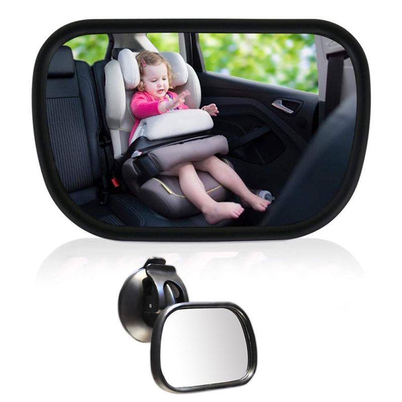 Baby Safety Rearview Mirror Child observation mirror 360 Degree Adjustable Suction Cup on Windshield Baby Car Mirror