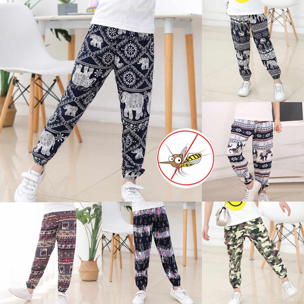 New Kids Baby Boy Girl Elephant Bloomers Breathable Anti-mosquito Harem Pants 819