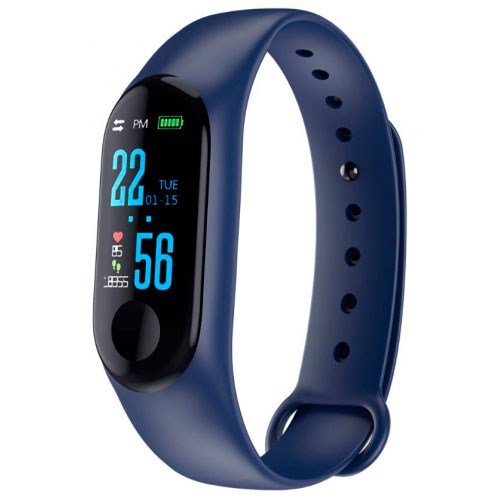 Fitness bracelet carcam smart band M3-Blue image