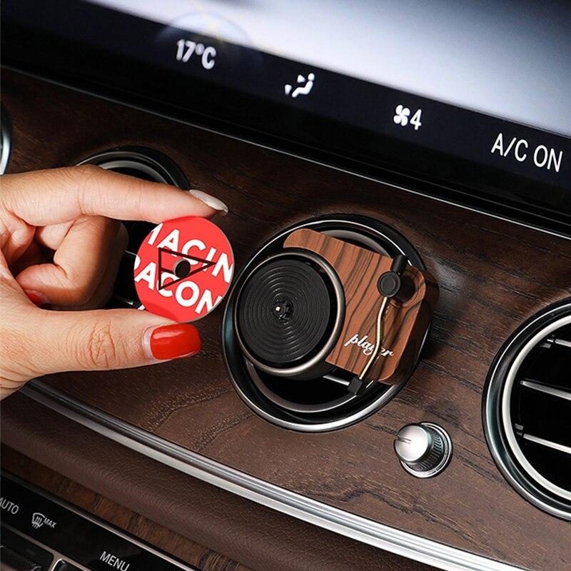 Автомобильный освежитель воздуха поворотный фонограф автомобильный ароматизатор Арома диффузор с 3 шт. Замена ароматерапия таблетки