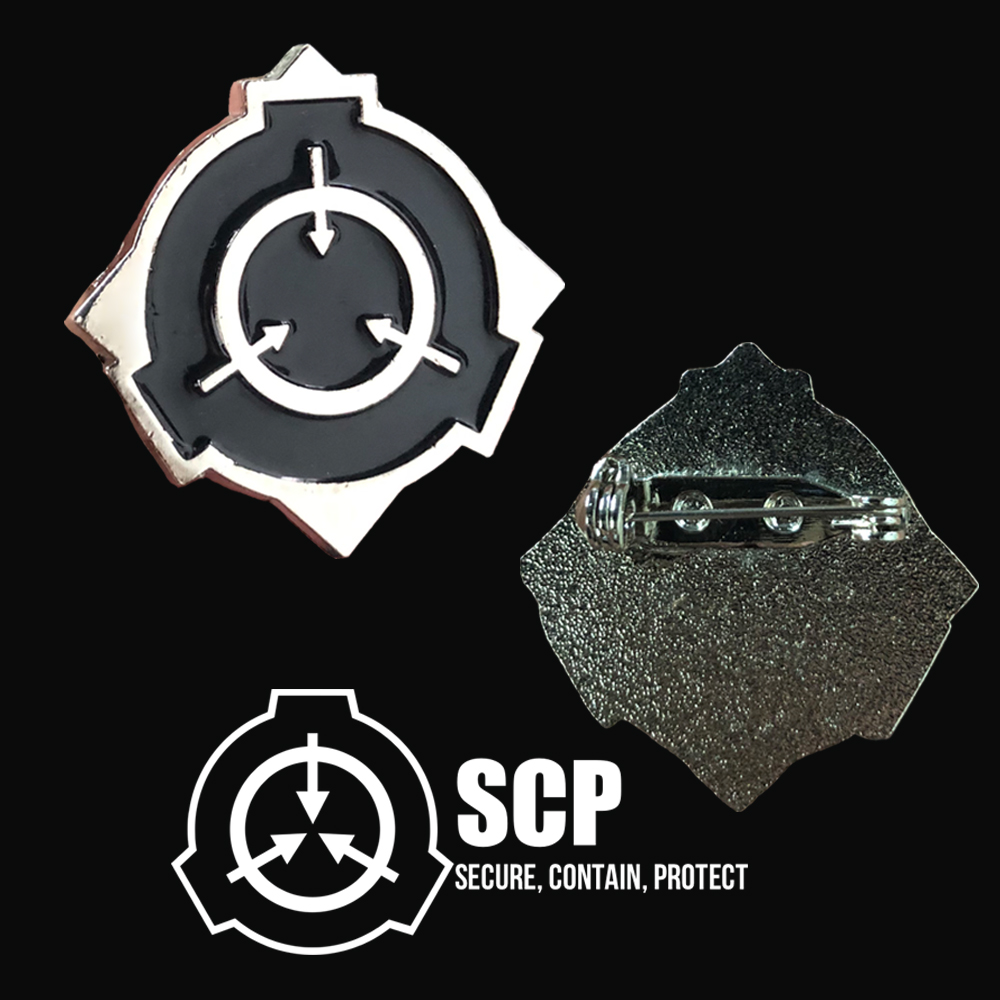 SCP Foundation Badge Cosplay Special Containment Procedures Foundation Secure Contain Protect Metal Brooch Pin Collection Props