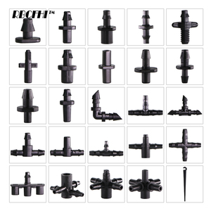 RBCFHI Garden Irrigation Connectors Barbed Single Double Tee Elbow Drip Arrow Cross Coupling Watering Fitting For 3/5 4/7mm Hose(China)