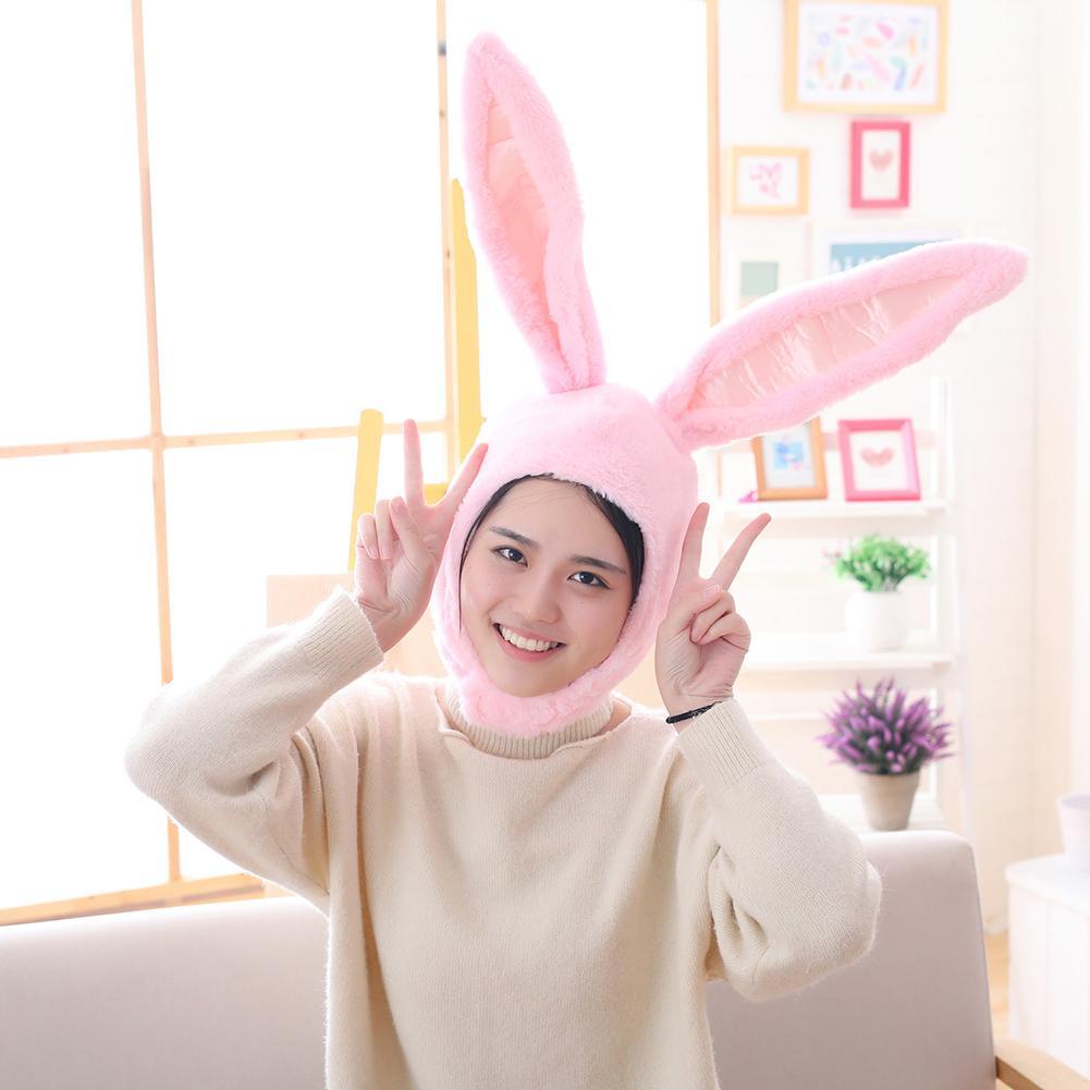 Cute Girls Hat Plush Rabbit Bunny Ears Hat Earflap Cap Head Warmer Photo Supplies