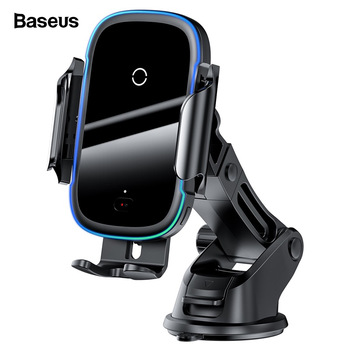 Baseus Qi Car Wireless Charger for iPhone 11 Samsung Xiaomi 15W Induction Car Mount Fast Wireless Charging with Car Phone Holder 1