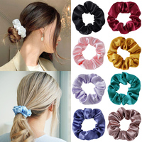 Satin Silk Scrunchie Women Elastic Hair Bands 2021 Hair Accessories for Women Girls Hair Scrunchies Ponytail Holder Hair Ties