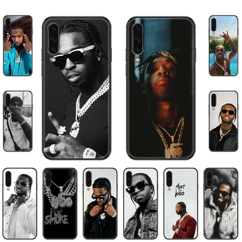 Rapper Pop Smoke Phone case For Samsung Galaxy A 3 5 8 9 10 20 30 40 50 70 E S Plus 2016 2017 2018 2019 black art back luxury image