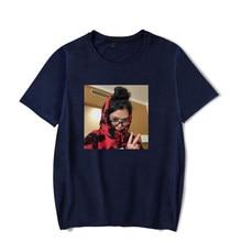 Bella Poarch printing autumn and Spring Summer Holiday street graffiti Men/Women casual camping T-shirt