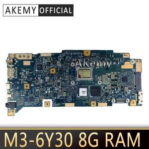 Akemy UX360CA Laptop płyta główna ASUS ZenBook UX360CA UX360C UX360 oryginalna testowa płyta główna M3-6Y30 8g RAM CPU