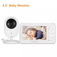4.3 inch Wireless Video Baby Monitor 2 Way Talk Baby Sleep Monitor With Camera Support 4 Cameras VOX Mode Temperature Monitoring 2 4 inch color lcd wireless digital baby monitor support two way talk back