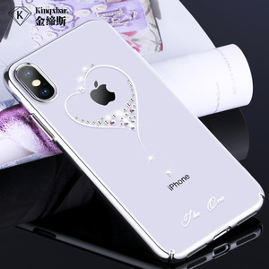 Image 3 - Bling Plating Slim Case For iPhone XS/XS Max 6.5/XR/X Back Hard Cover Crystal Diamond Luxury Brand Clear Thin Shockproof Women