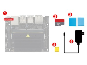 "Image 1 - NVIDIA Jetson Nano Developer Kit AI посылка для разработки с картой Micro SD на 64 Гб 7 ""ips дисплей источник питания"