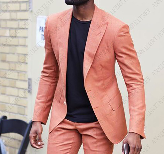 Latest Coat Pant Designs Beige Linen Beach Wedding Men Suit Slim Fit 3 Piece Casual Tuxedo Custom Groomsman  Blazer Masculino N