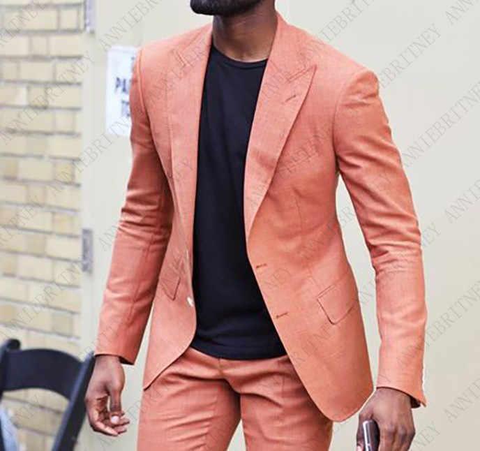 Último abrigo pantalones diseños Beige Lino playa boda hombres traje Slim Fit 3 piezas Casual esmoquin personalizado padrino Blazer Masculino N