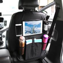 Car Seat Back Organizer Multi-Pocket with Storage Bag for iPad Mini Holder Universal Back Seat Organizer for Children Storage(China)