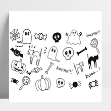 AZSG Happy Halloween Cute Ghost Bat For DIY Scrapbooking/Card Making/Album Decorative Silicone Stamp Crafts
