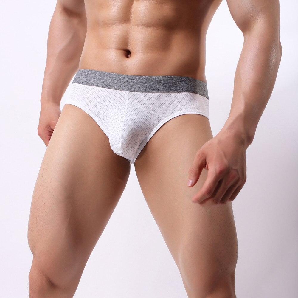 Men's Underwear Briefs Comfortable Breathable Male Panties Nylon underpants Men's penis Sexy gay Underwear ropa interior hombre