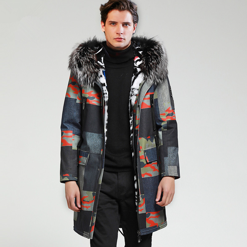 Jacket Parka Real-Fur-Coat Winter Korean YY1151 3677 Casaco Streetwear Men
