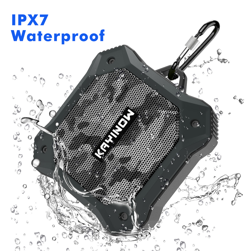KAYINUO Portable bluetooth speaker with bass HD stereo sound IPX7 Waterproof wireless shower speakers support TWS aux TF Card