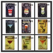 цена Bloody Bahama mama Mojito Cocktail Menu Vintage Tin Sign Bar Wall Decor Club Metal Crafts Decor Bar Pub Wall Decor for Bar Pub онлайн в 2017 году