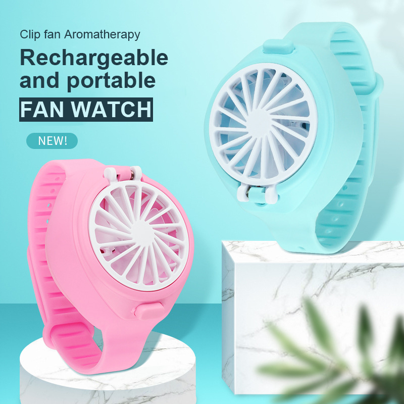 TOP Newest Fan Watch Ladies Sport Cool Summer Lazy Fans Rechargeable USB Innovation Wrist Watch Children Fans Ventilateur